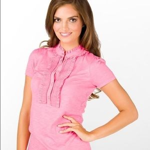 Lilly Pulitzer Krista Ruffle polo top